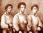 Grasel, Fähding und Stangl vor der Hinrichtung